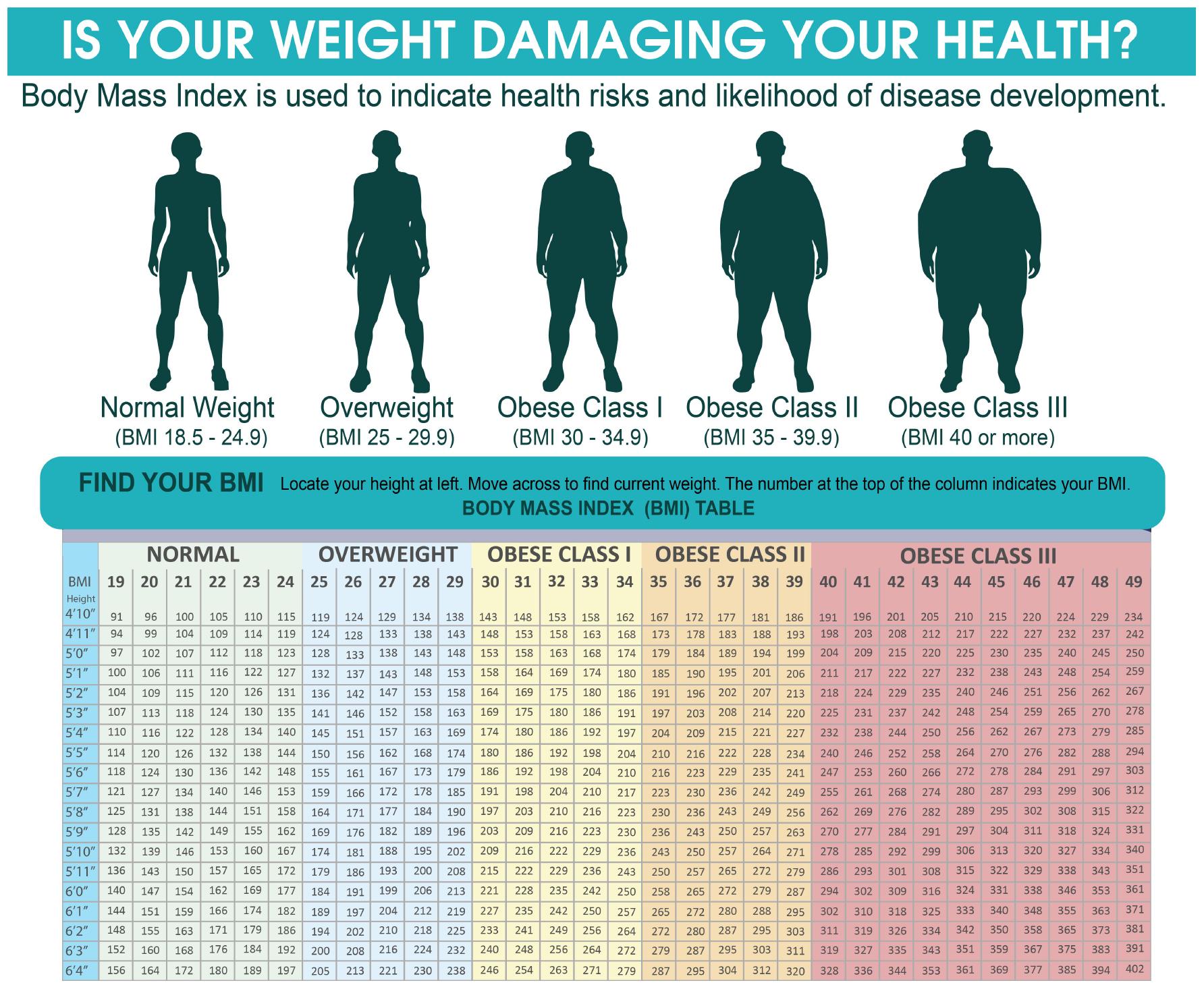 BMI Risk Chart Obesity Physician